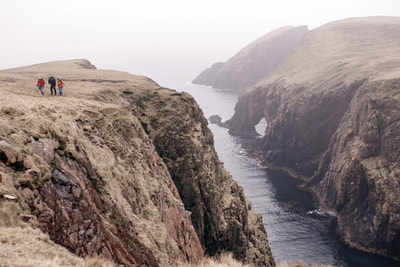Cliffs at Muckle Roe