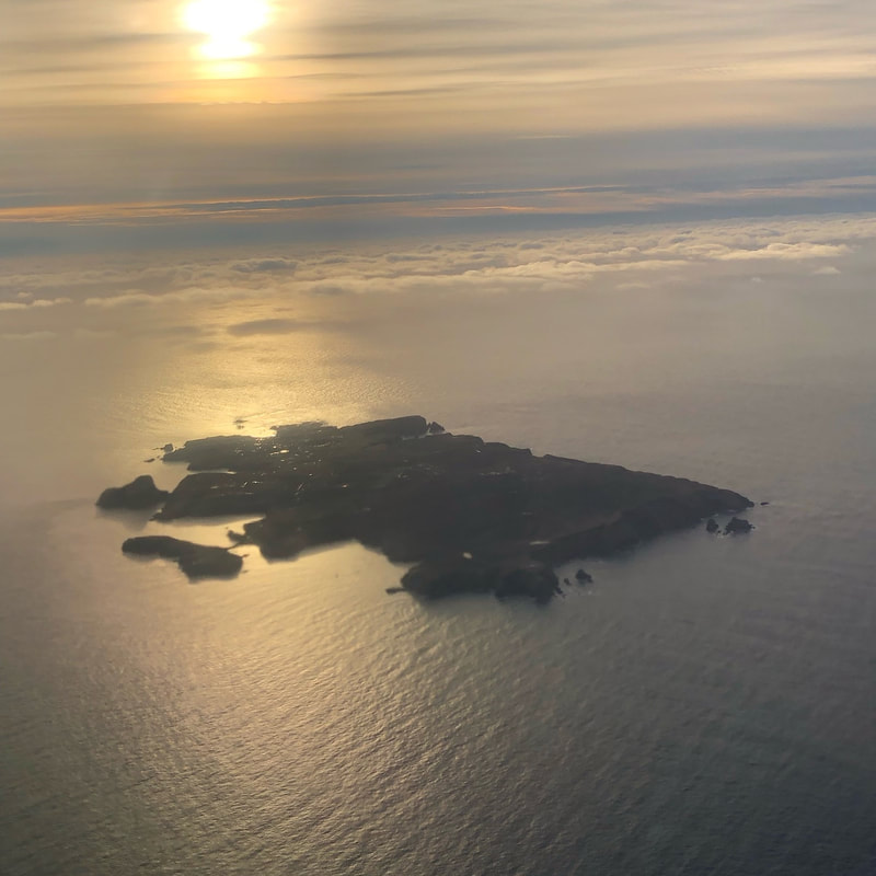Fair Isle from the air