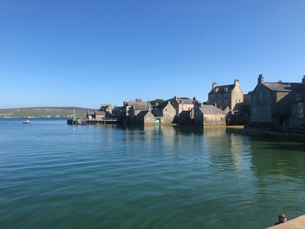 Lerwick waterfront and harbour, Shetland.Picture