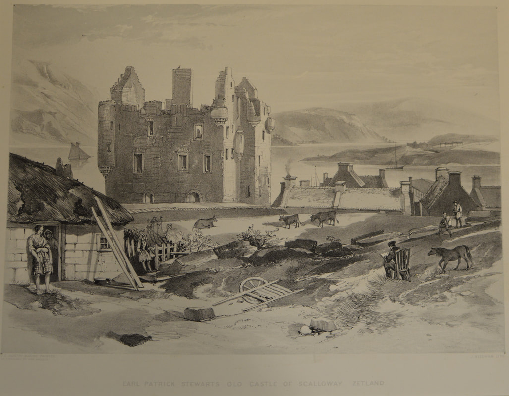 Scalloway Castle. Image: Shetland Museum collection (ART 86151)