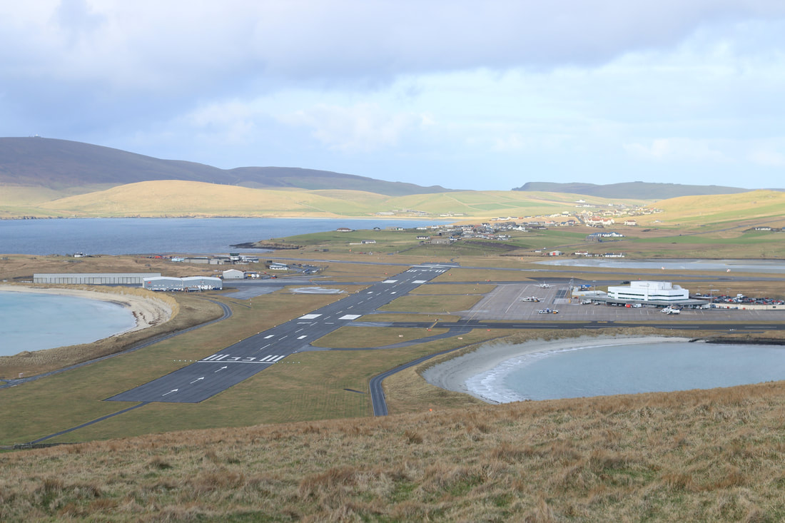 Sumburgh Airport, Shetland's main air link