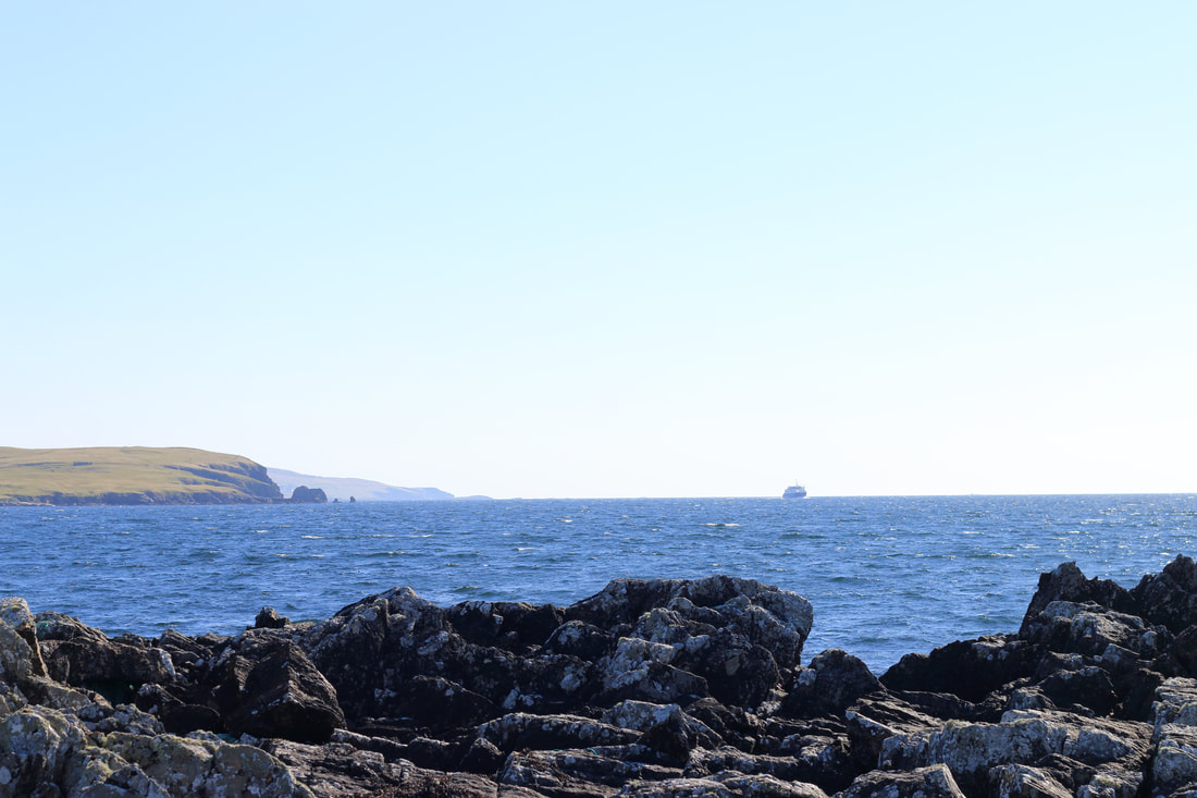 East-Gate is the perfect place to watch the Whalsay ferry coming and going.