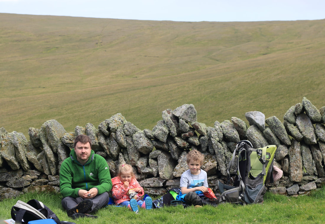 A picnic at Hermaness, Unst.