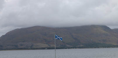 The Scottish Saltire flying outside the HollyTree Hotel.