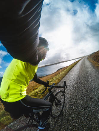 James Irvine, cycling in Shetland