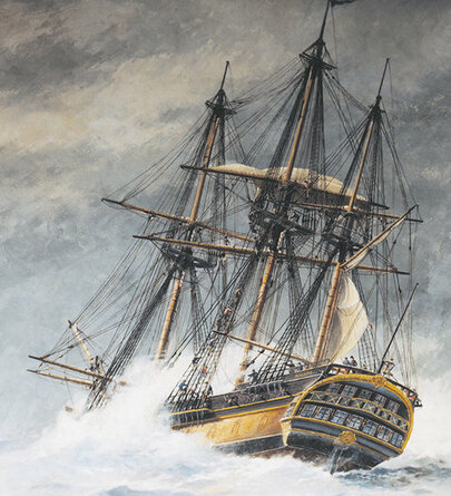 Ship of the Swedish East India Company.
